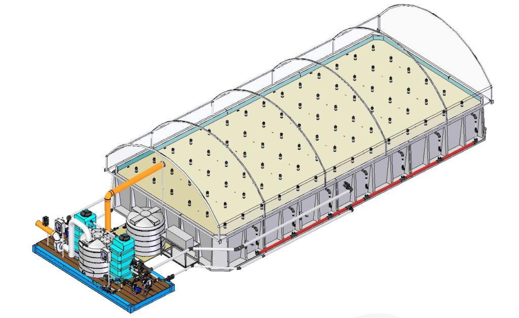 Rendering 3D dell'impianto SEKRET di Livorno